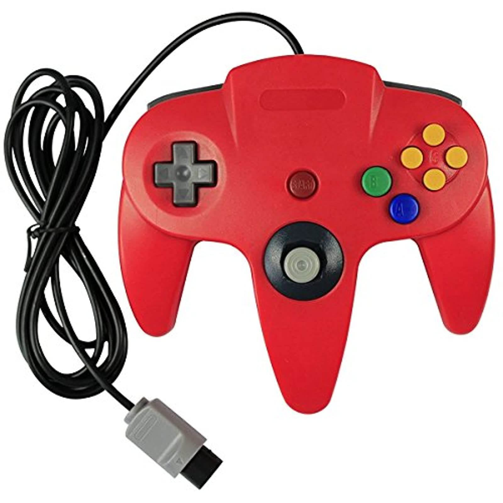 Generic Classic Nintendo 64 Controller Red For N64