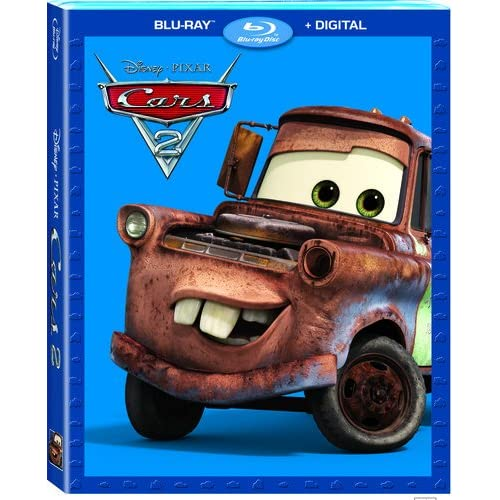 Cars 2 Blu-Ray On Blu-Ray With Larry The Cable Guy Disney Anime