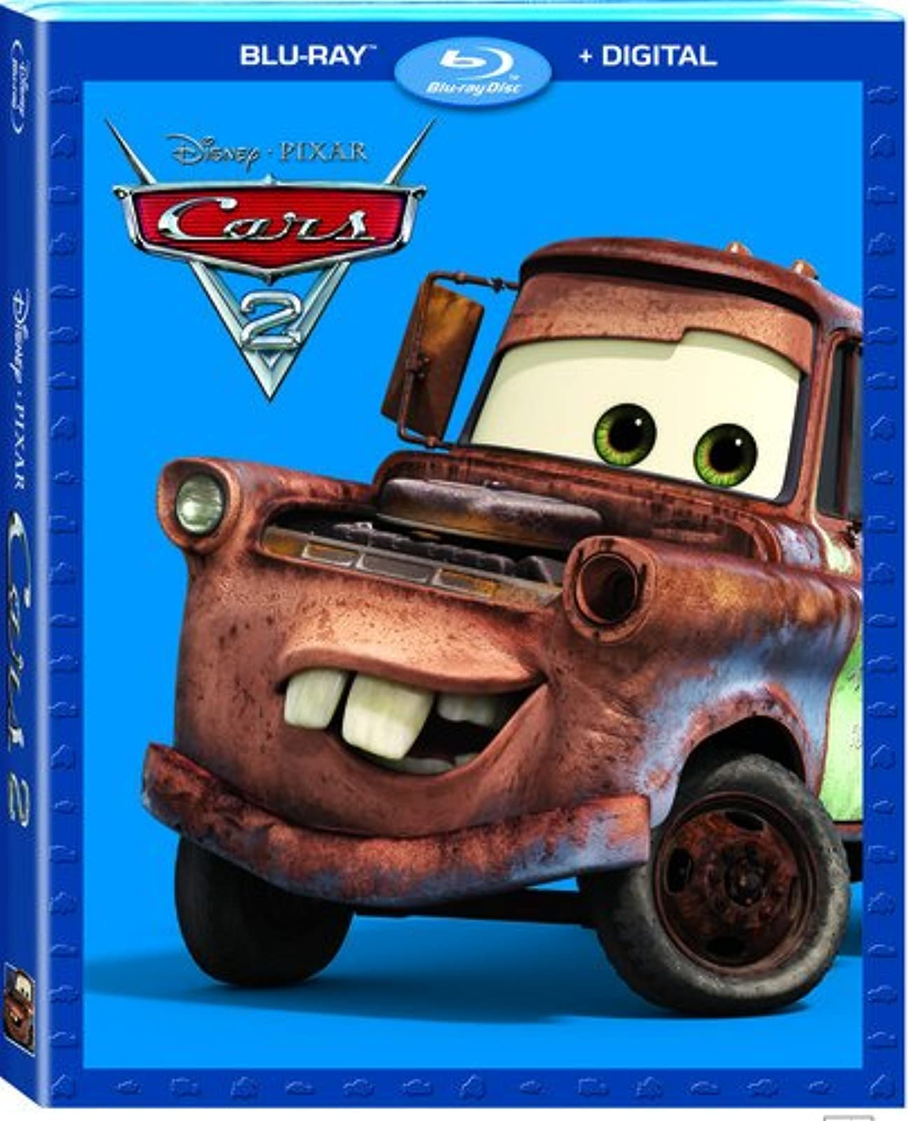 Cars 2 Blu-Ray On Blu-Ray With Larry The Cable Guy Disney