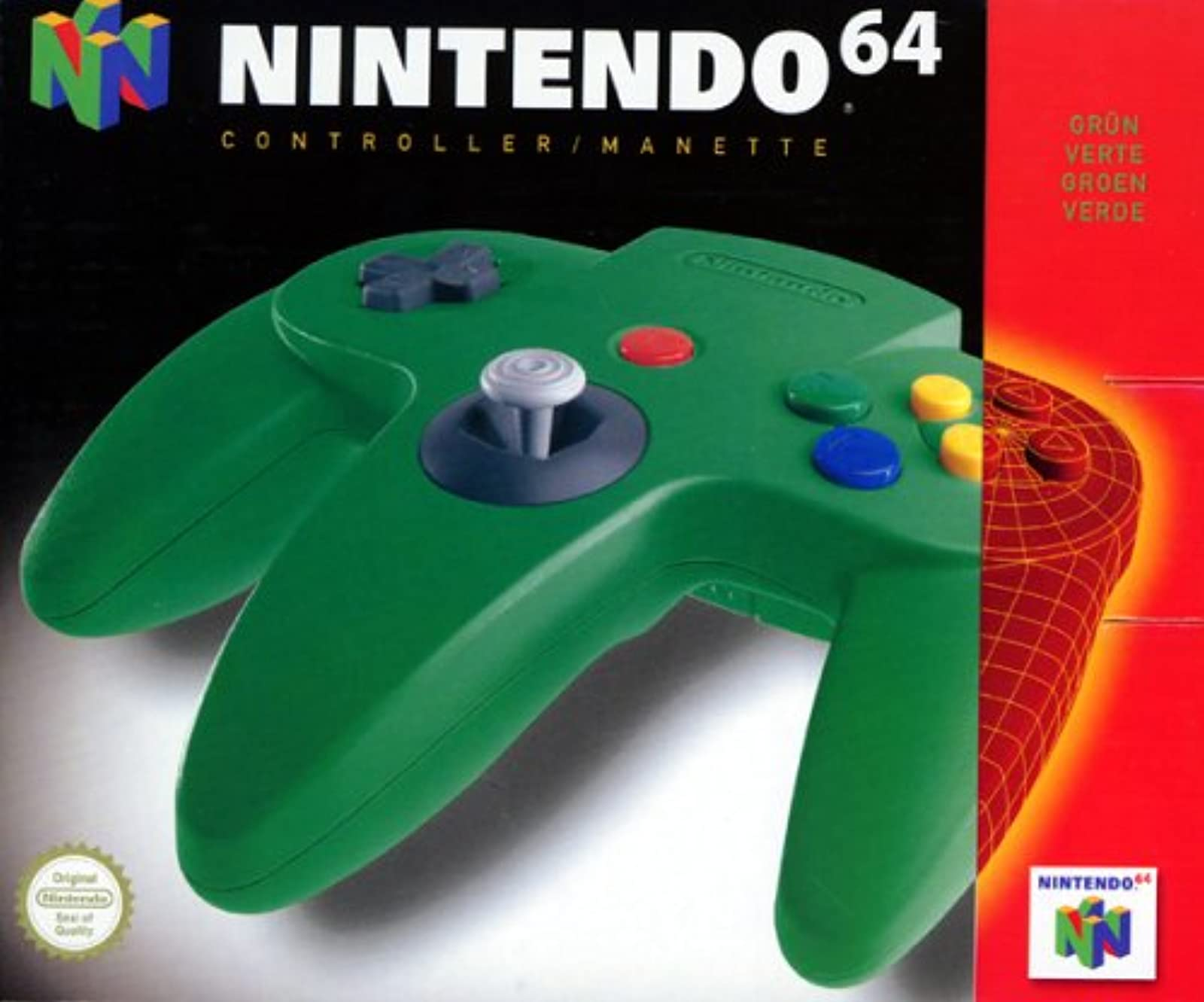 Controller Green For N64 Nintendo OEM Gamepad DHY329