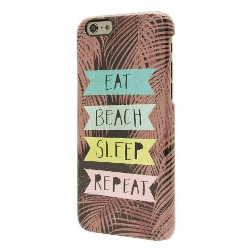 End Scene iPhone 6 Brown With Eat Beach Sleep Repeat Case Cover