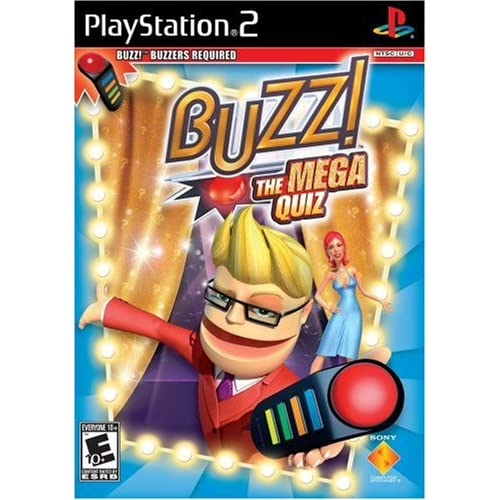 Buzz: The Mega Quiz Software Only For PlayStation 2 PS2 Trivia