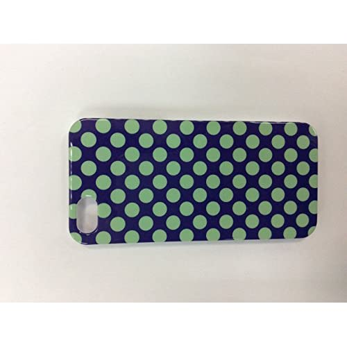 iConcepts Hardshell Case For iPhone 5 5S SE Small Green Polka Dots