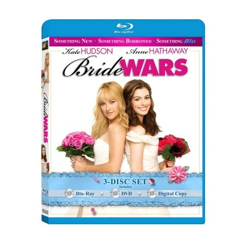 Bride Wars Three-Disc Set Blu-Ray On Blu-Ray With Anne Hathaway 3 Comedy