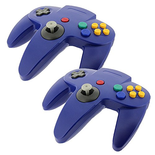 2 PCS New Long Controller Game System For Nintendo 64 N64 Blue