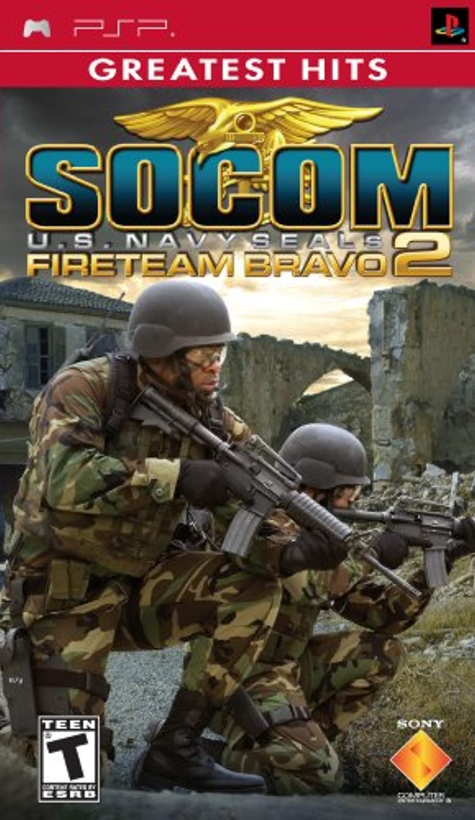 Socom US Navy Seals Fireteam Bravo 2 Sony For PSP UMD Shooter