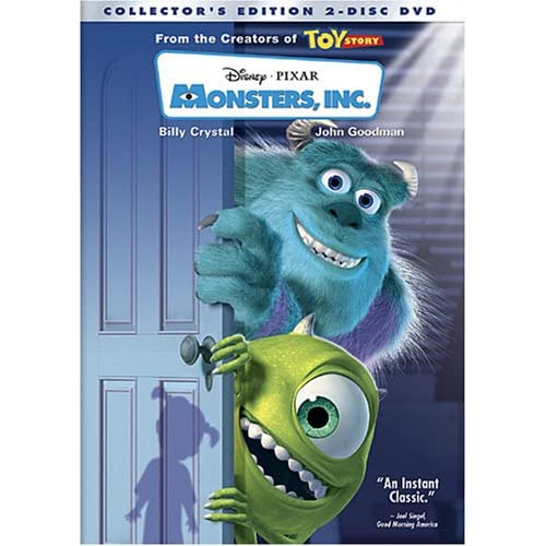 Monsters Inc Two-Disc Edition On DVD With Billy Crystal 2 Disney Anime