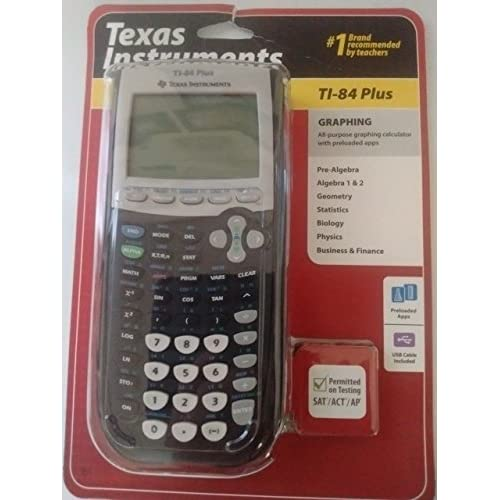 Graphing Calculator In Black By Texas Instruments