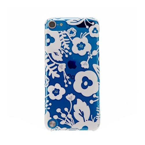 AGENT18 iPod Touch 5 Case Slimshield Clear / White Flowers Fitted