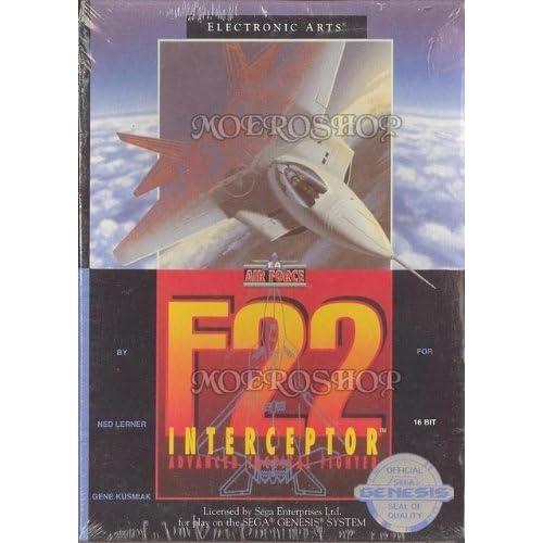 F-22 Interceptor For Sega Genesis Vintage Flight