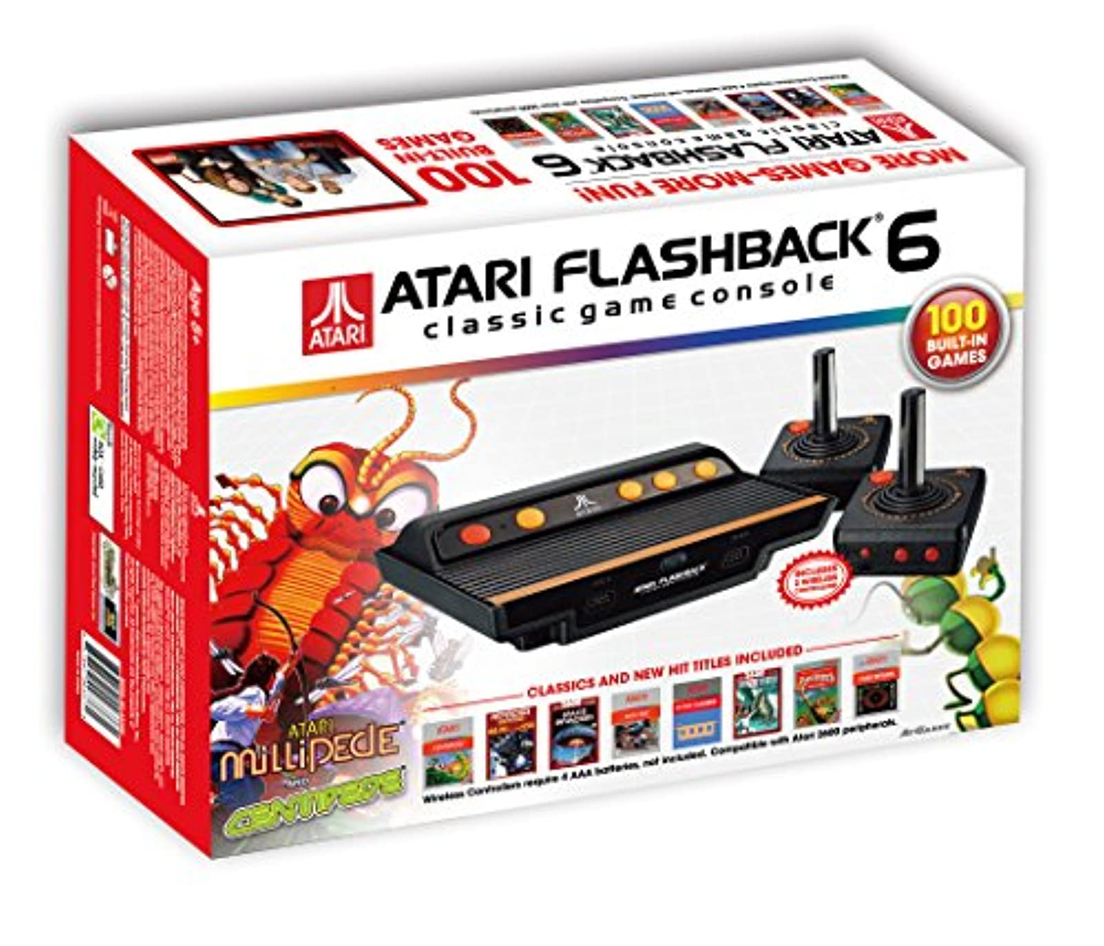 Atari Flashback 6 Classic Game System With 100 Games Console Black Home BIA373