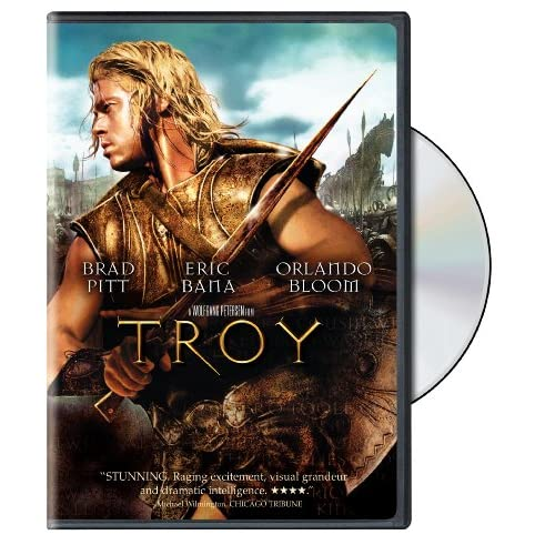 Troy On DVD With Brad Pitt Action
