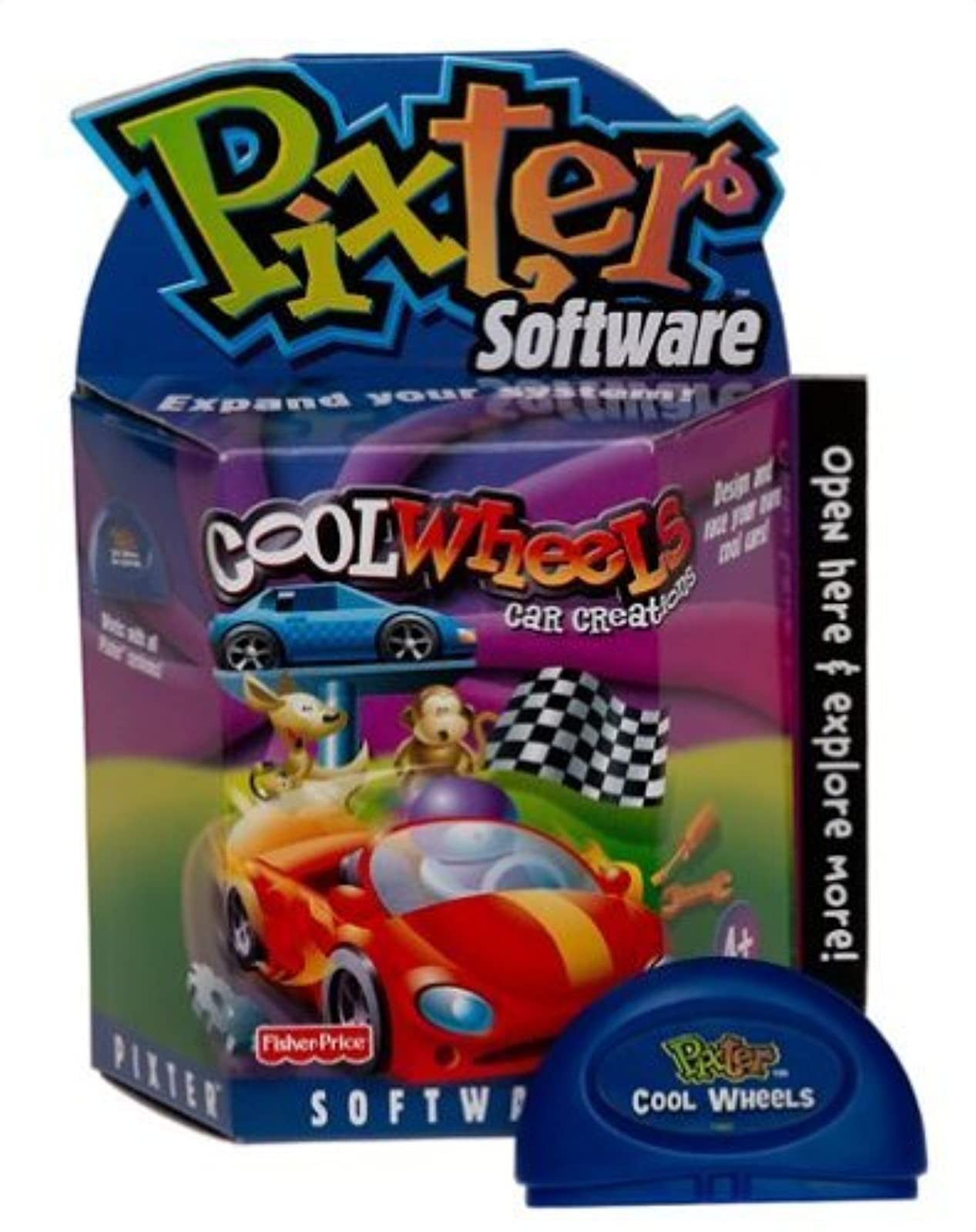 Fisher-Price Pixter Cool Wheels Car Creations Software By Pixter Portable System
