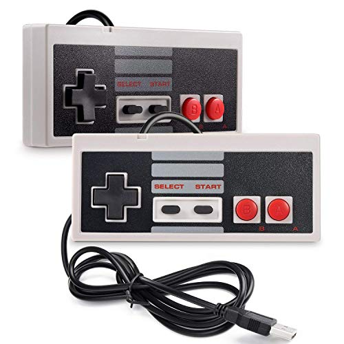 2 Pack USB Controller For NES Games PC USB Controller Retro Gamepad