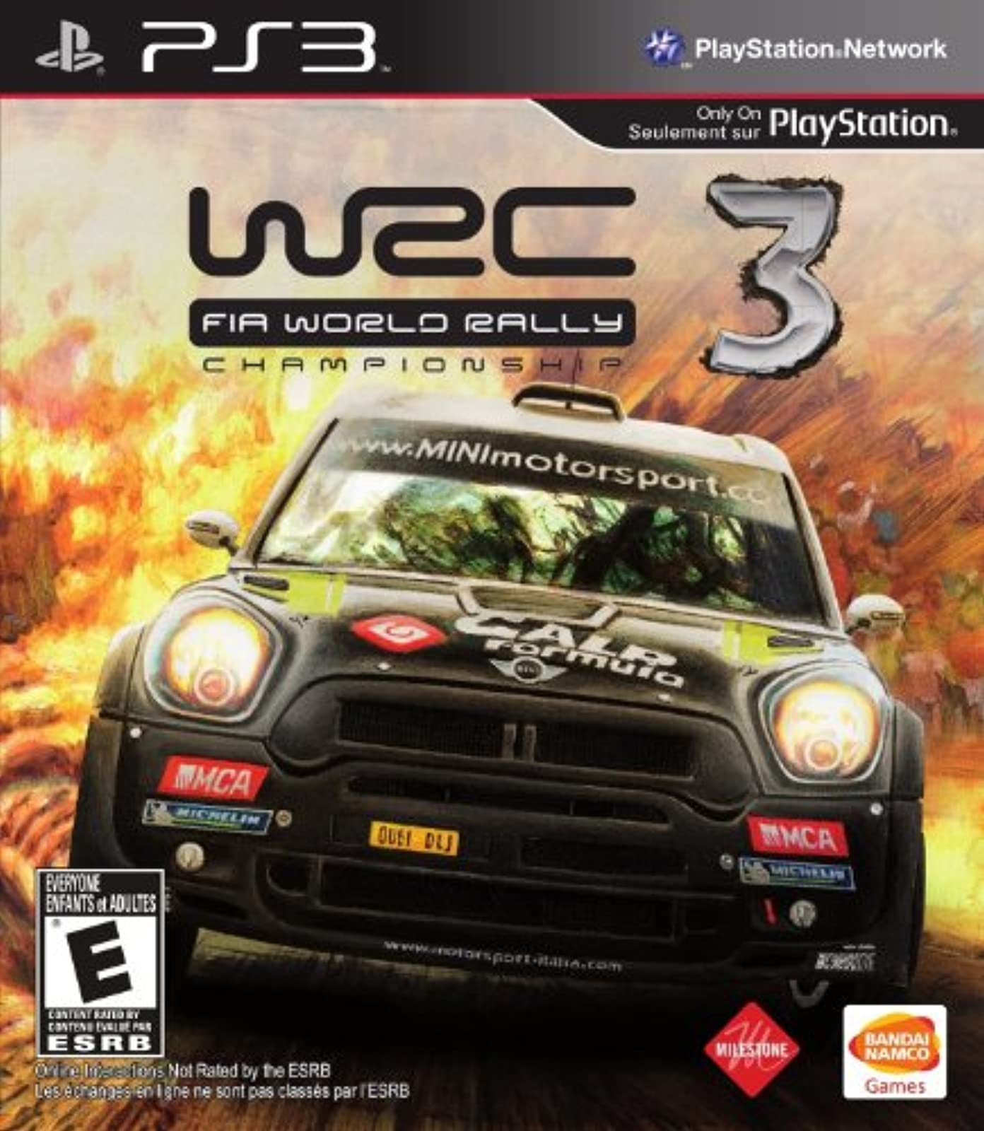 WRC 3 Fia World Rally Championship 2012 For PlayStation 3 PS3 Racing