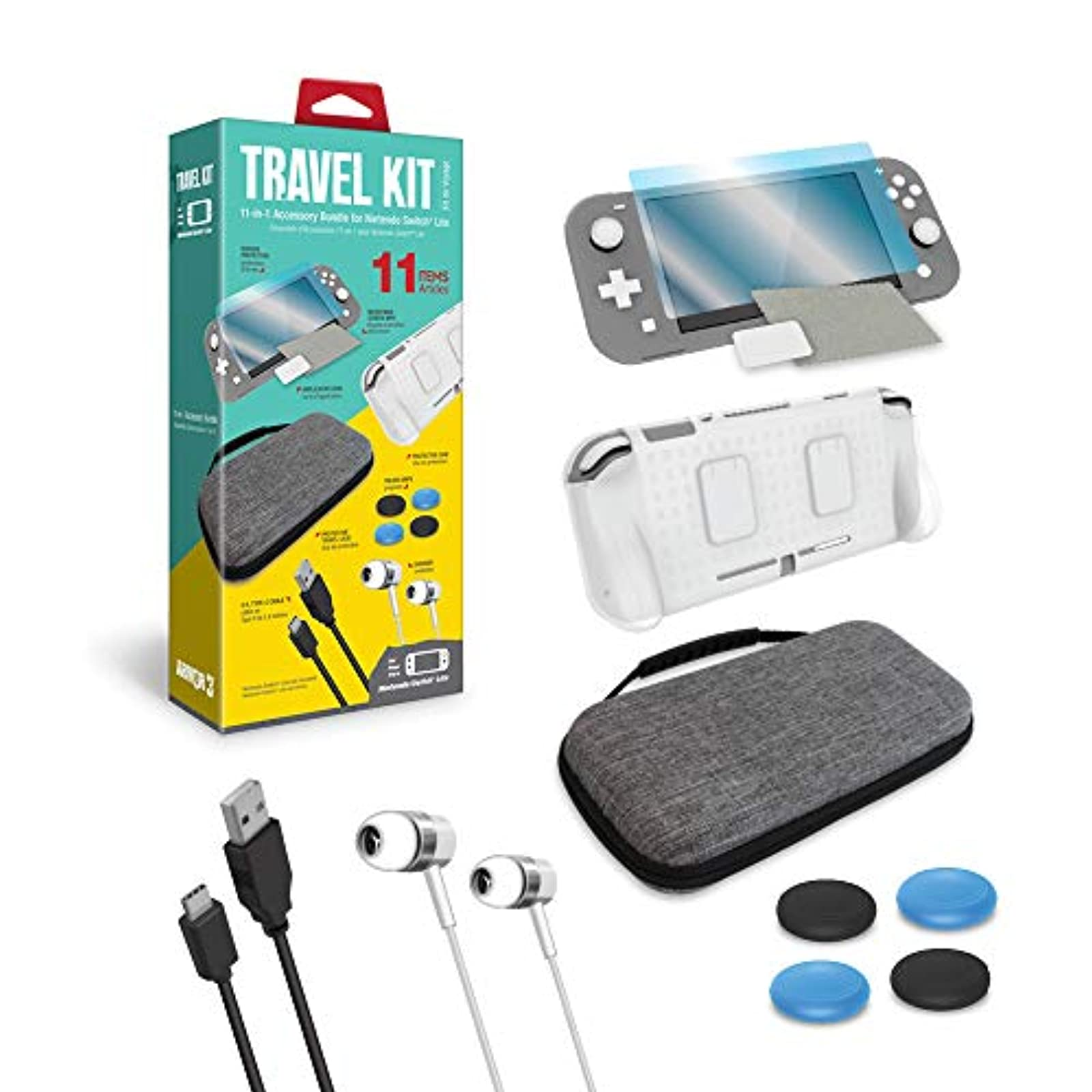 ARMOR3 Travel Kit For Nintendo Switch Lite