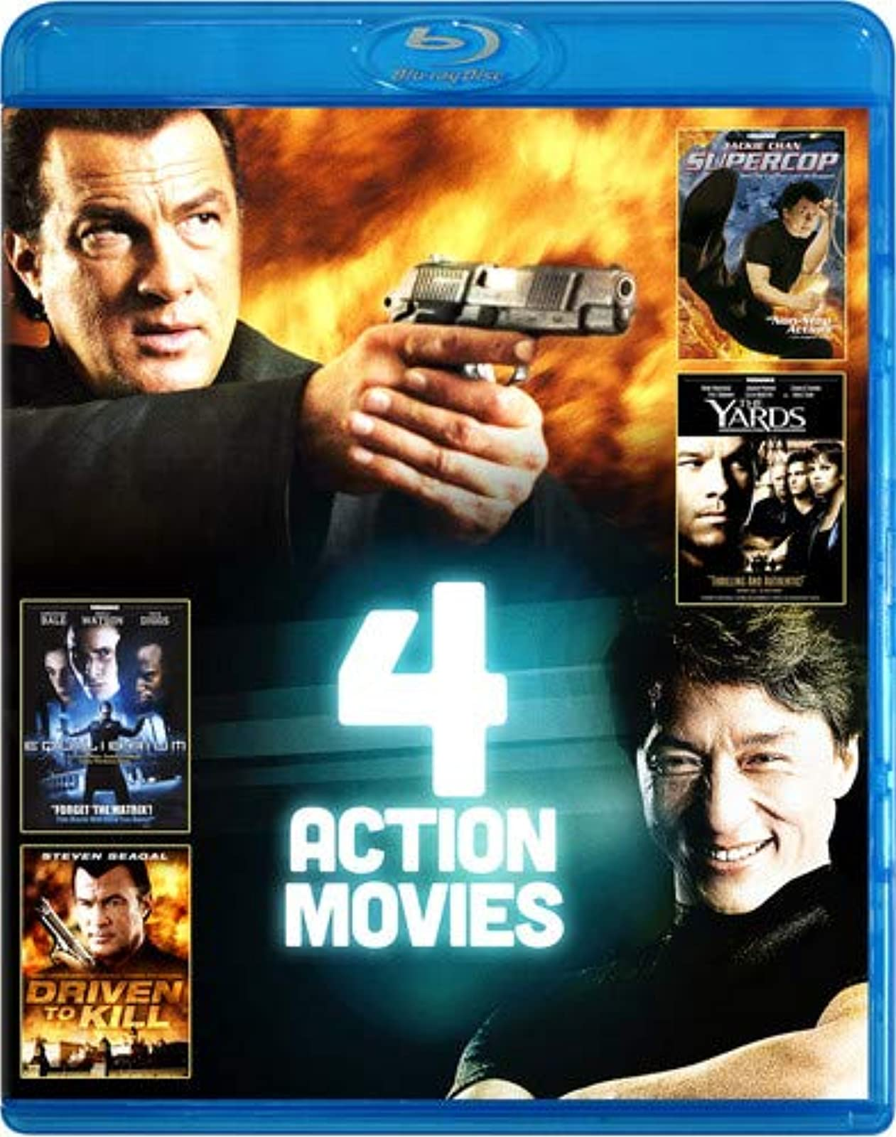 4-FILM Action Pack V.4 On Blu-Ray With Steven Seagal
