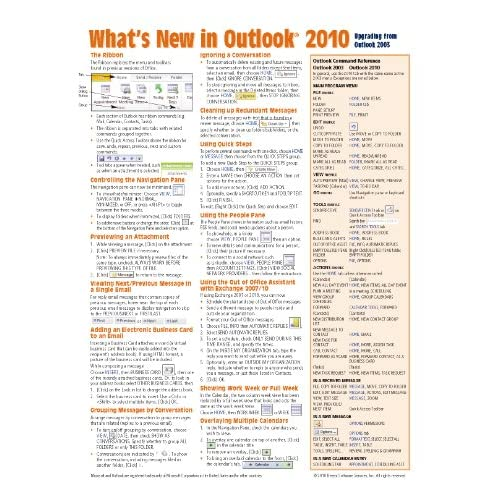 Image 0 of What's New In Outlook 2010 From 2003 Quick Reference Guide Cheat Sheet