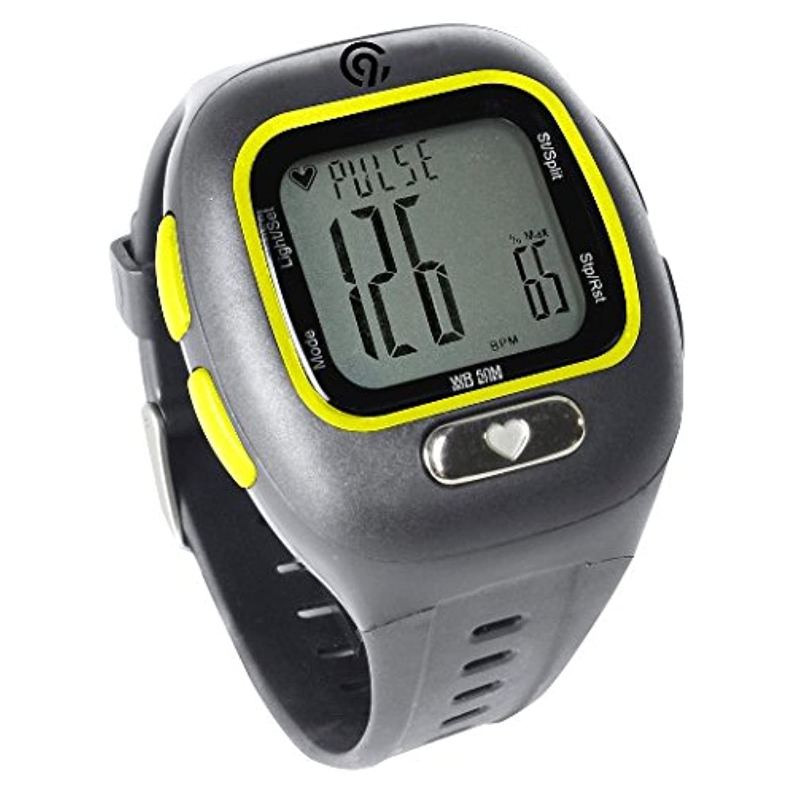 C9 Champion Pace Heart Rate Monitor Charcoal/yellow