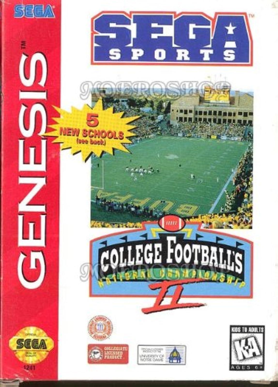 College Football's National Championship II For Sega Genesis Vintage