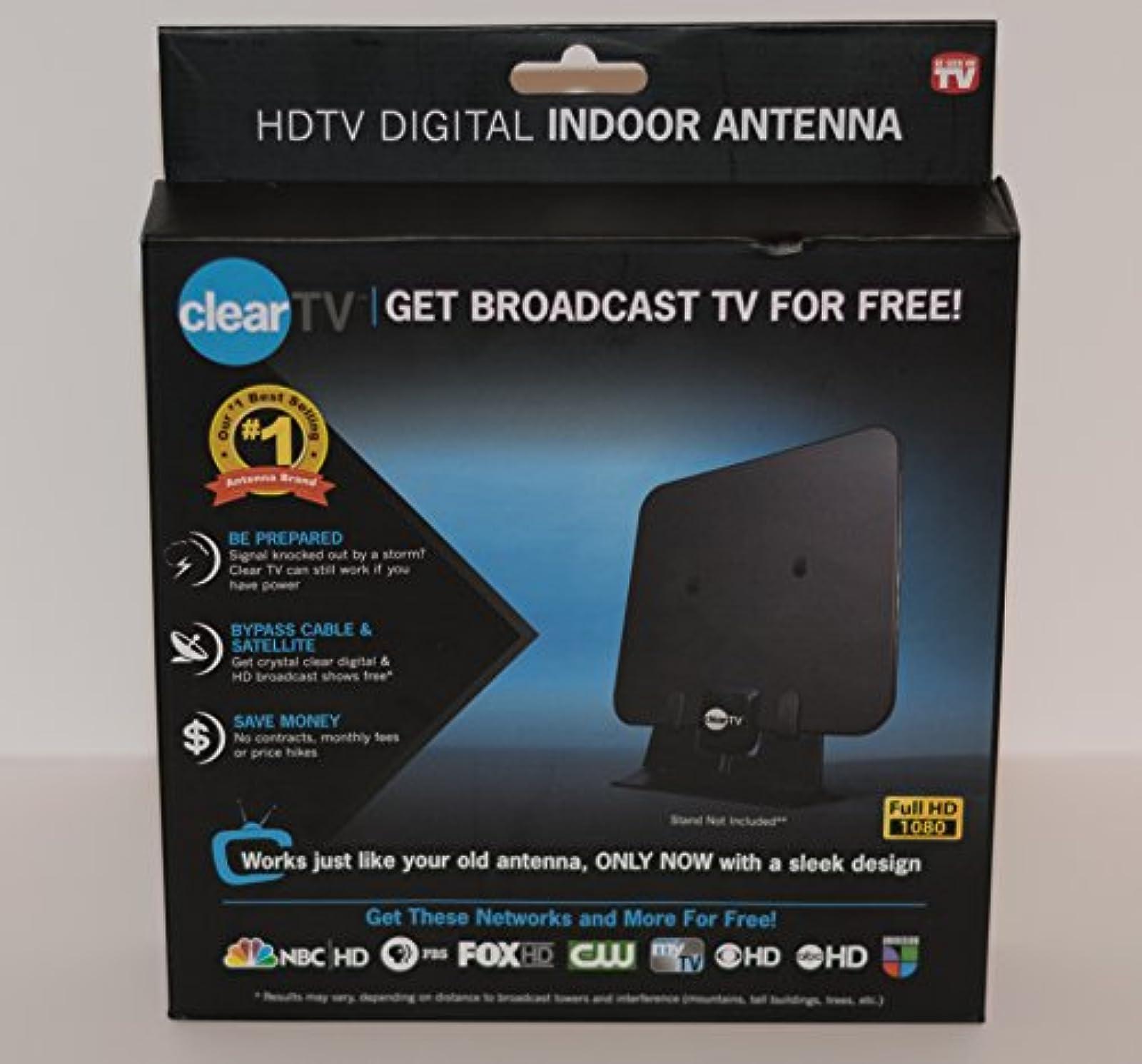 Cleartv X-72 HDTV Digital Indoor Antenna Black
