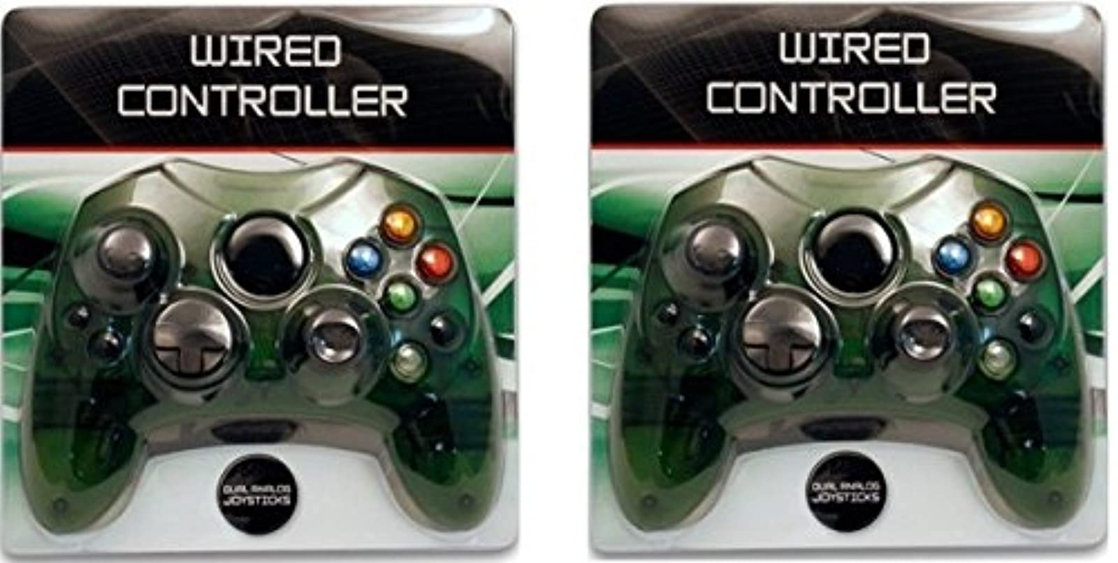 2 Lot New Green Controller Control Pad For Original Microsoft Xbox X System