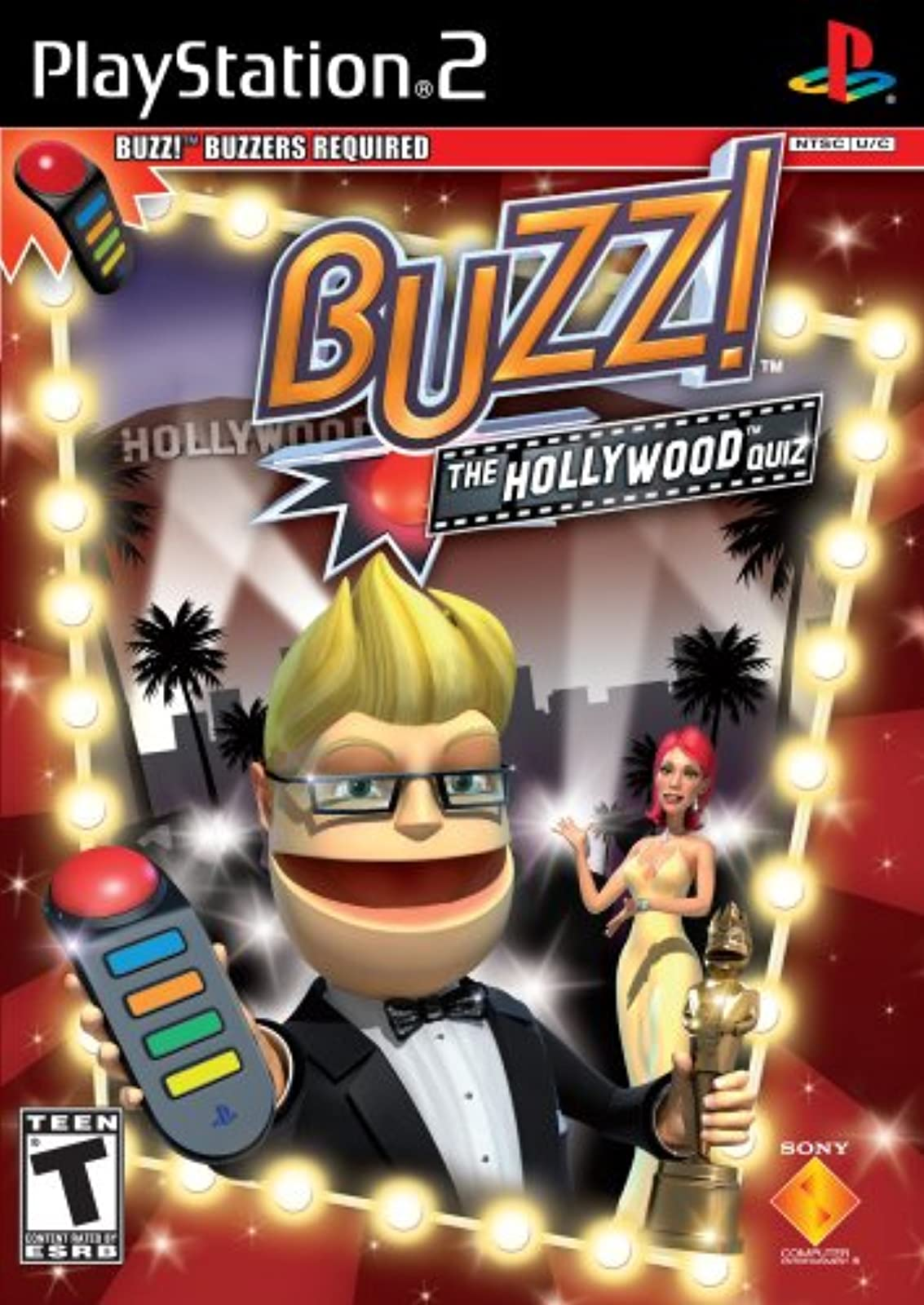 Buzz: The Hollywood Quiz Stand Alone For PlayStation 2 PS2 Trivia