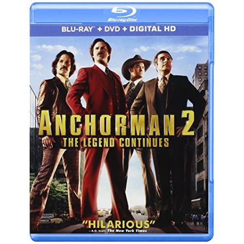 Anchorman 2: The Legend Continues Digital HD On Blu-Ray With Will Ferrell Comedy
