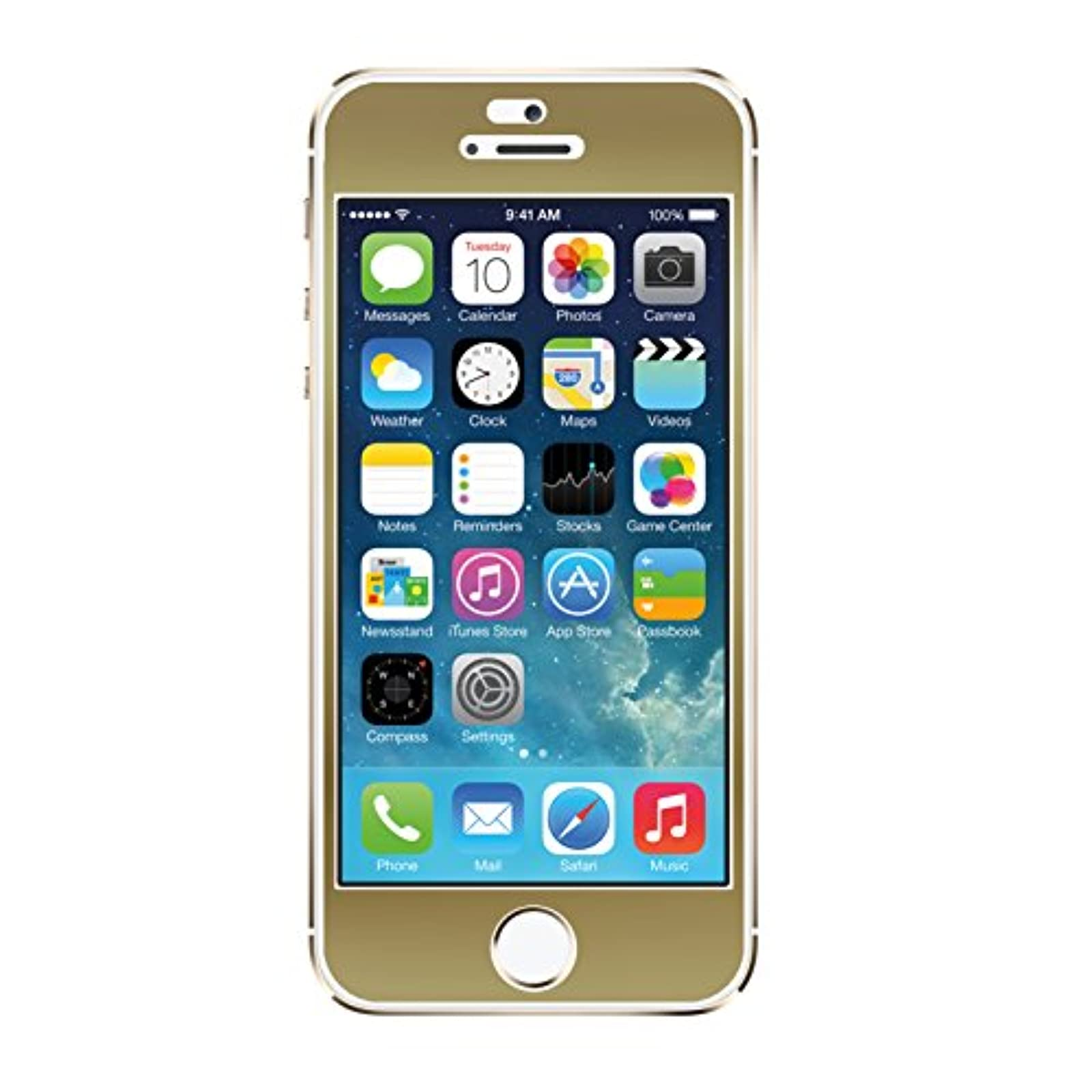 Agent 18 iPhone 5 5S SE Screen Film Gold Case Cover Fitted FRNT/G1 Sticker