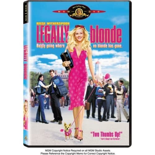 Legally Blonde On DVD With Reese Witherspoon Comedy