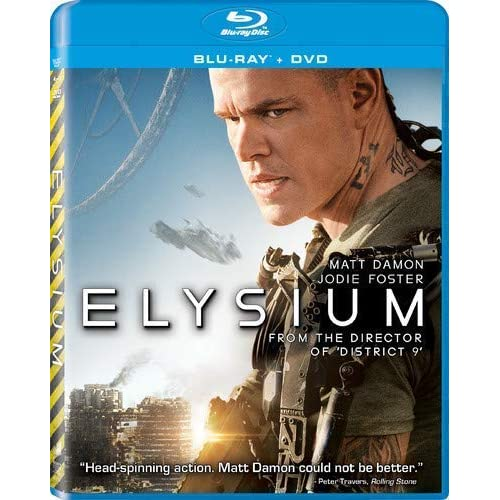 Elysium Blu-Ray On Blu-Ray With Matt Damon