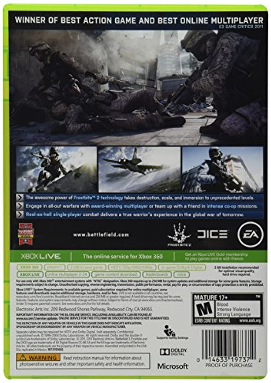 Image 2 of Battlefield 3 For Xbox 360 Shooter