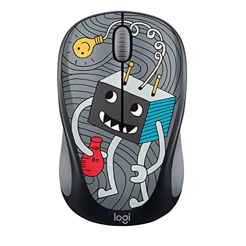 Image 0 of Logitech Doodle Collection M317 M325 Mouse Optical Wireless 3 Buttons Lightbulb