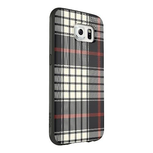Belkin Mixit Case Galaxy S6 Black White Red Flannel Cover Multi-Color