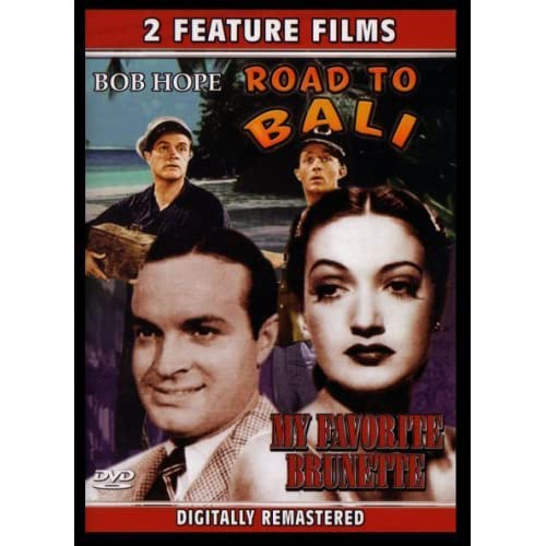 Image 0 of Bob Hope Double Feature Road To Bali & My Favorette Brunette On DVD