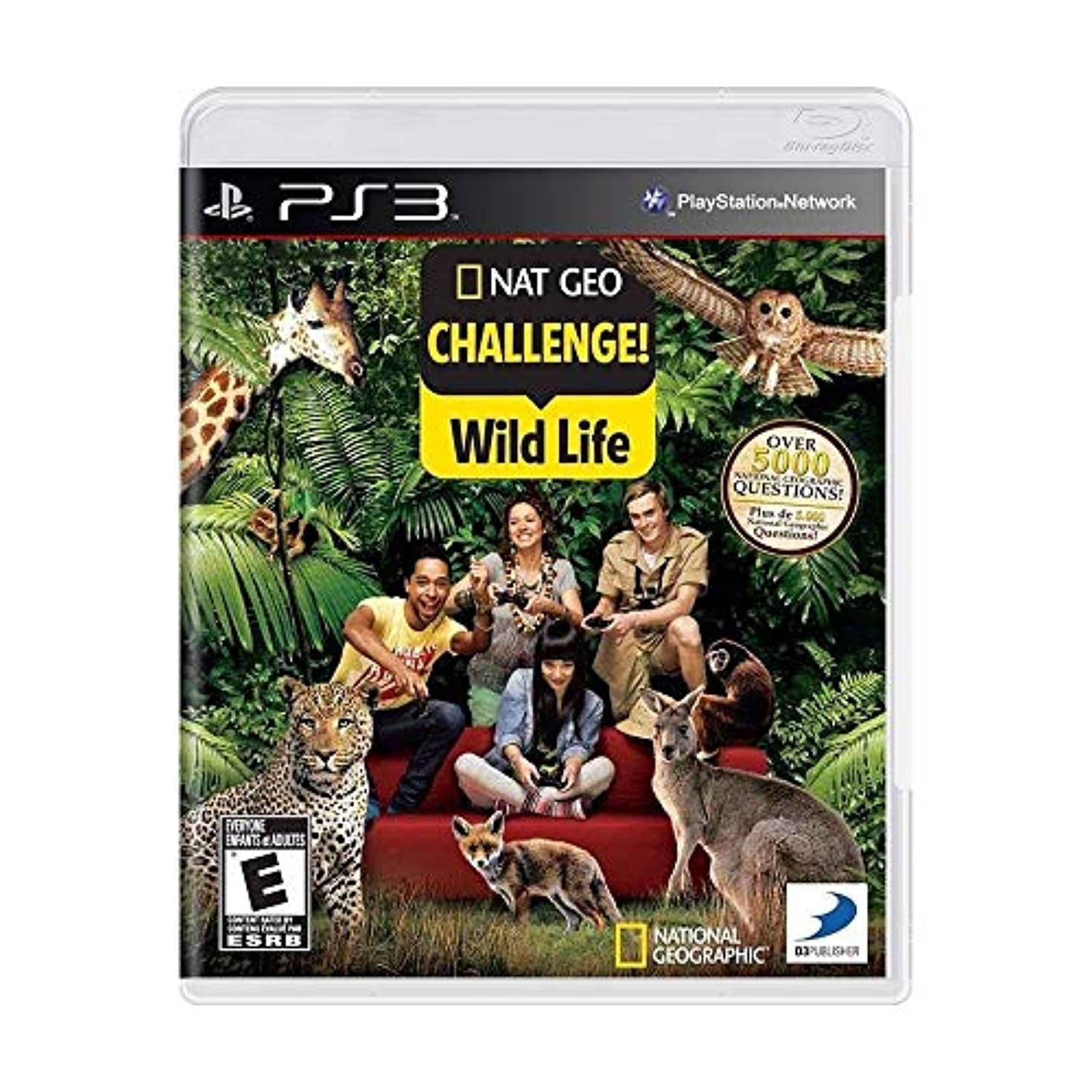 National Geographic Quiz! Wild Life For PlayStation 3 PS3 Trivia