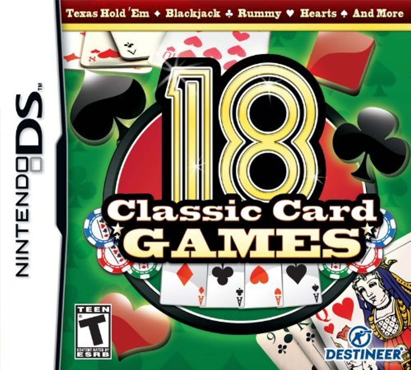 18 Classic Card Games For Nintendo DS DSi 3DS 2DS