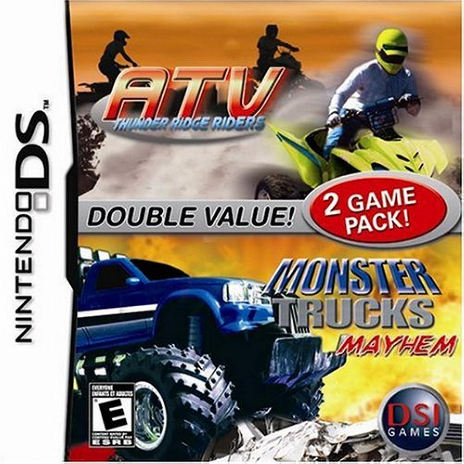 ATV Thunder Ridge Riders / Monster Trucks Mayhem For Nintendo DS DSi 3DS 2DS