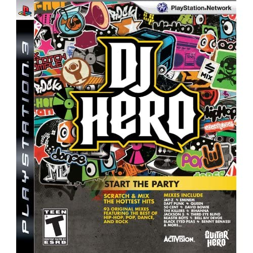DJ Hero: Start The Party Stand Alone Software For PlayStation 3 PS3