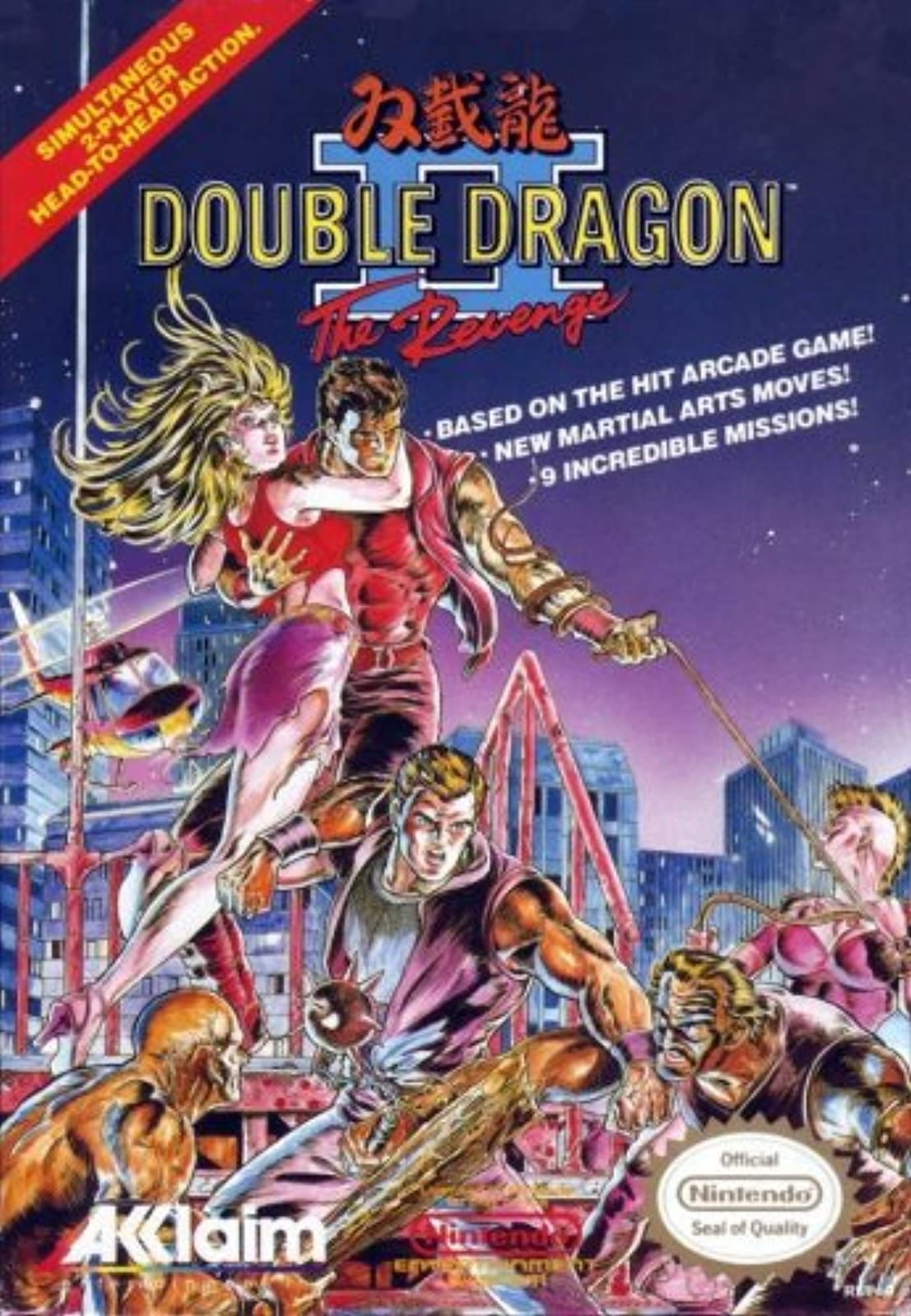 Double Dragon II: The Revenge For Nintendo NES Vintage