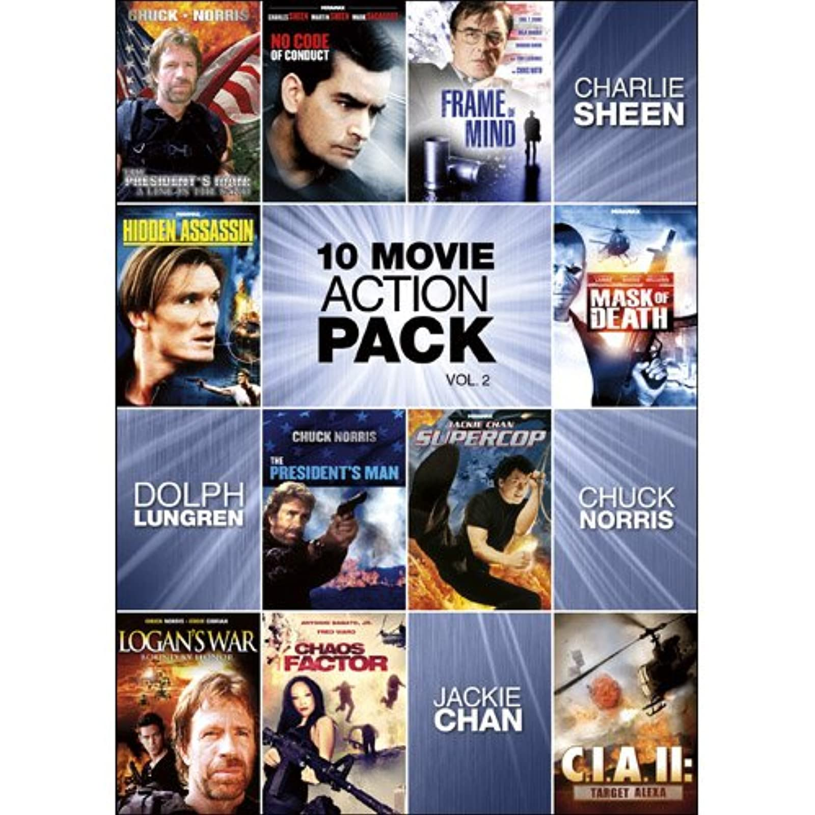 10-MOVIE Action Pack V.2 On DVD With Jackie Chan