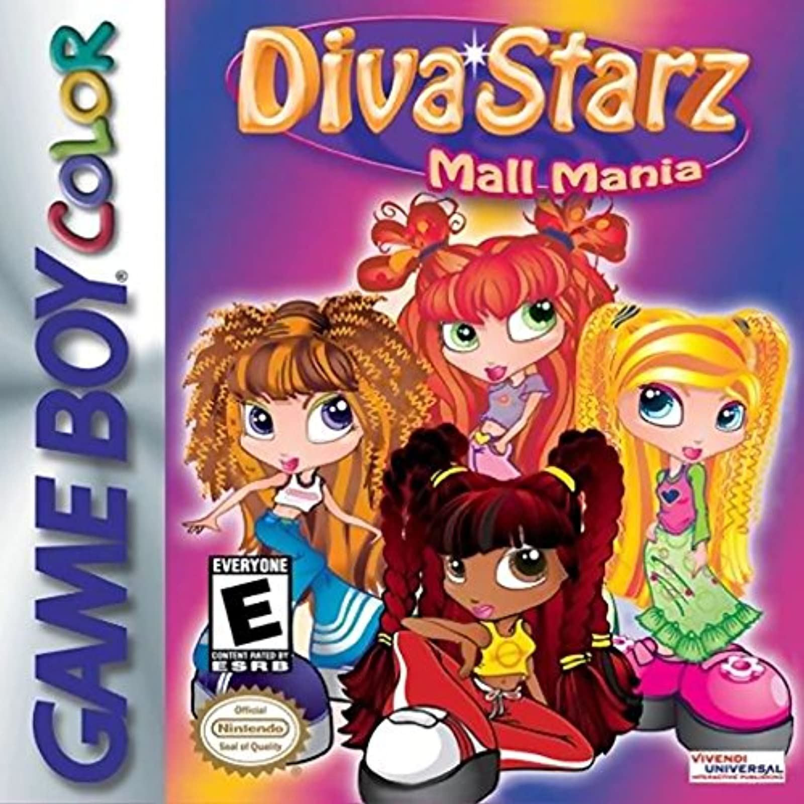 Diva Starz: Mall Mania On Gameboy Color