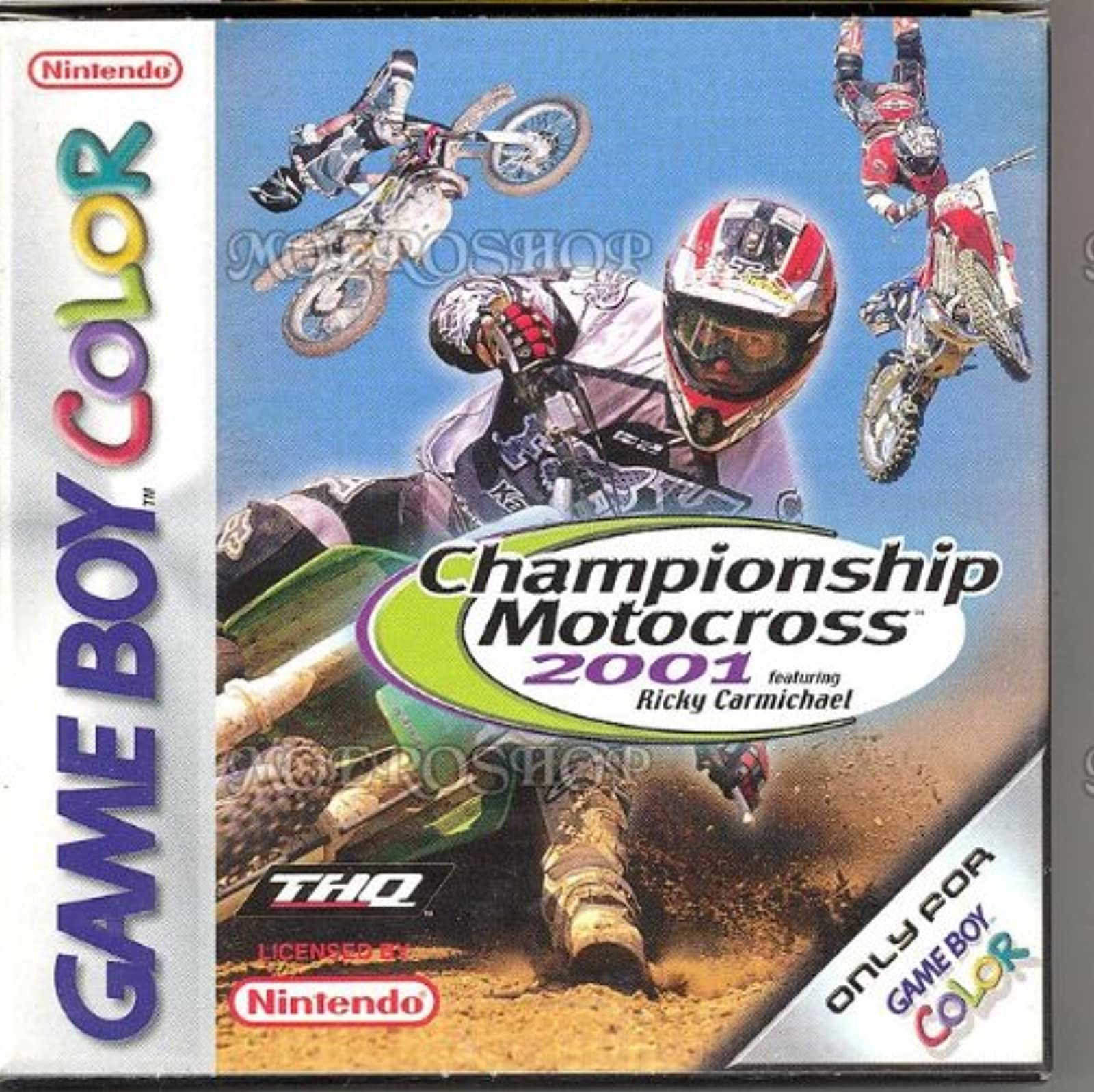Championship Motocross 2001 GBC On Gameboy Color