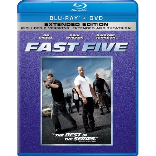 Fast Five Blu-Ray On Blu-Ray With Dwayne Johnson 5