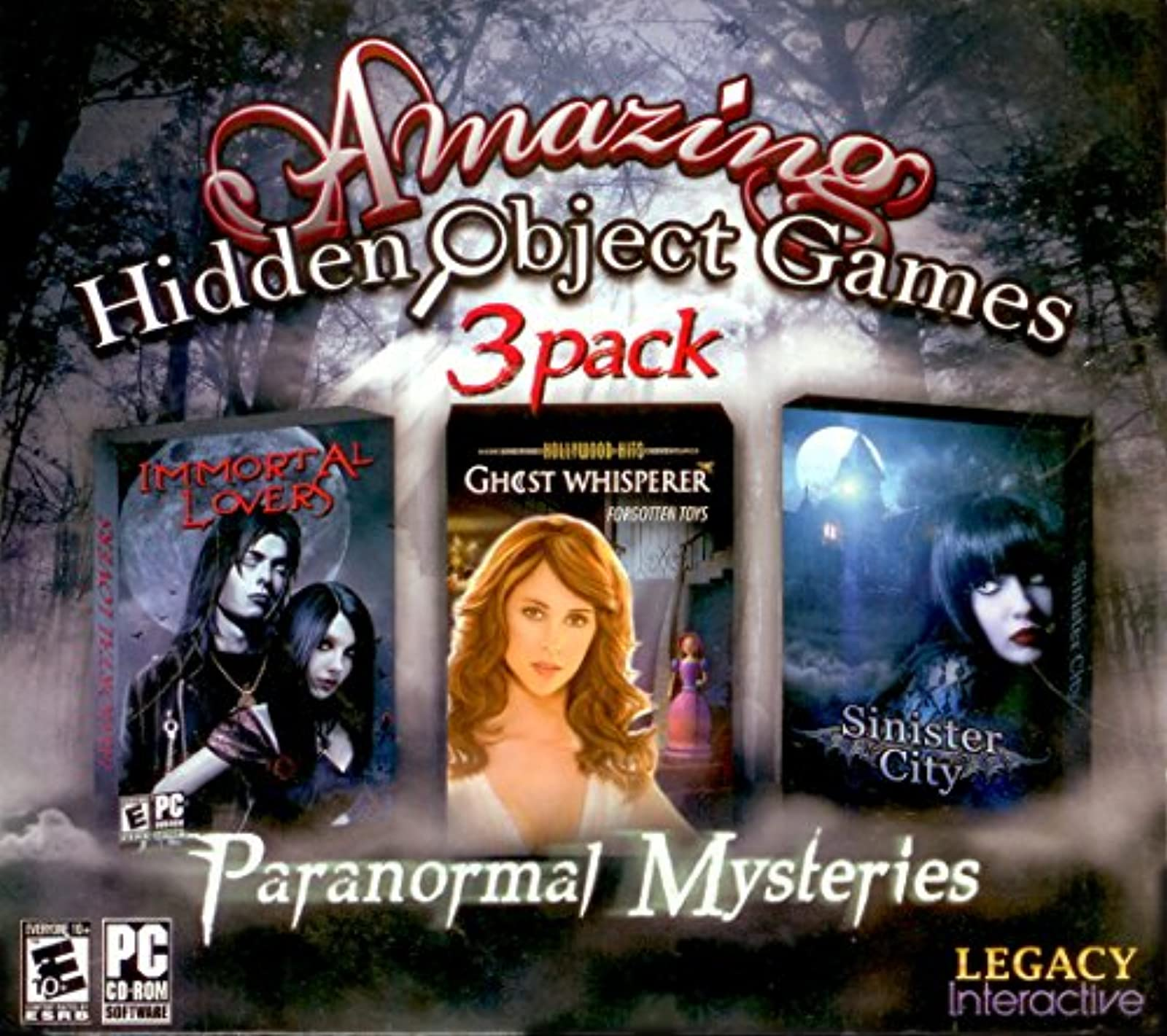Amazing Hidden Object Games 3 Pack Paranormal Mysteries Immortal Lovers Ghost Wh
