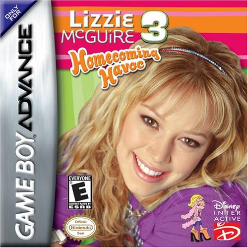 Lizzie Mcguire 3 For GBA Gameboy Advance Disney