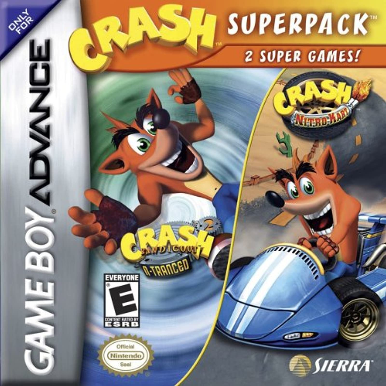 Crash SuperPack For GBA Gameboy Advance