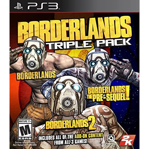 Borderlands Triple Pack PlayStation 3 For PlayStation 3 PS3 Shooter