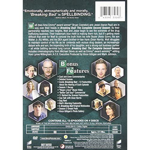 Image 1 of Breaking Bad: Season 2 On DVD With Bryan Cranston TV Shows