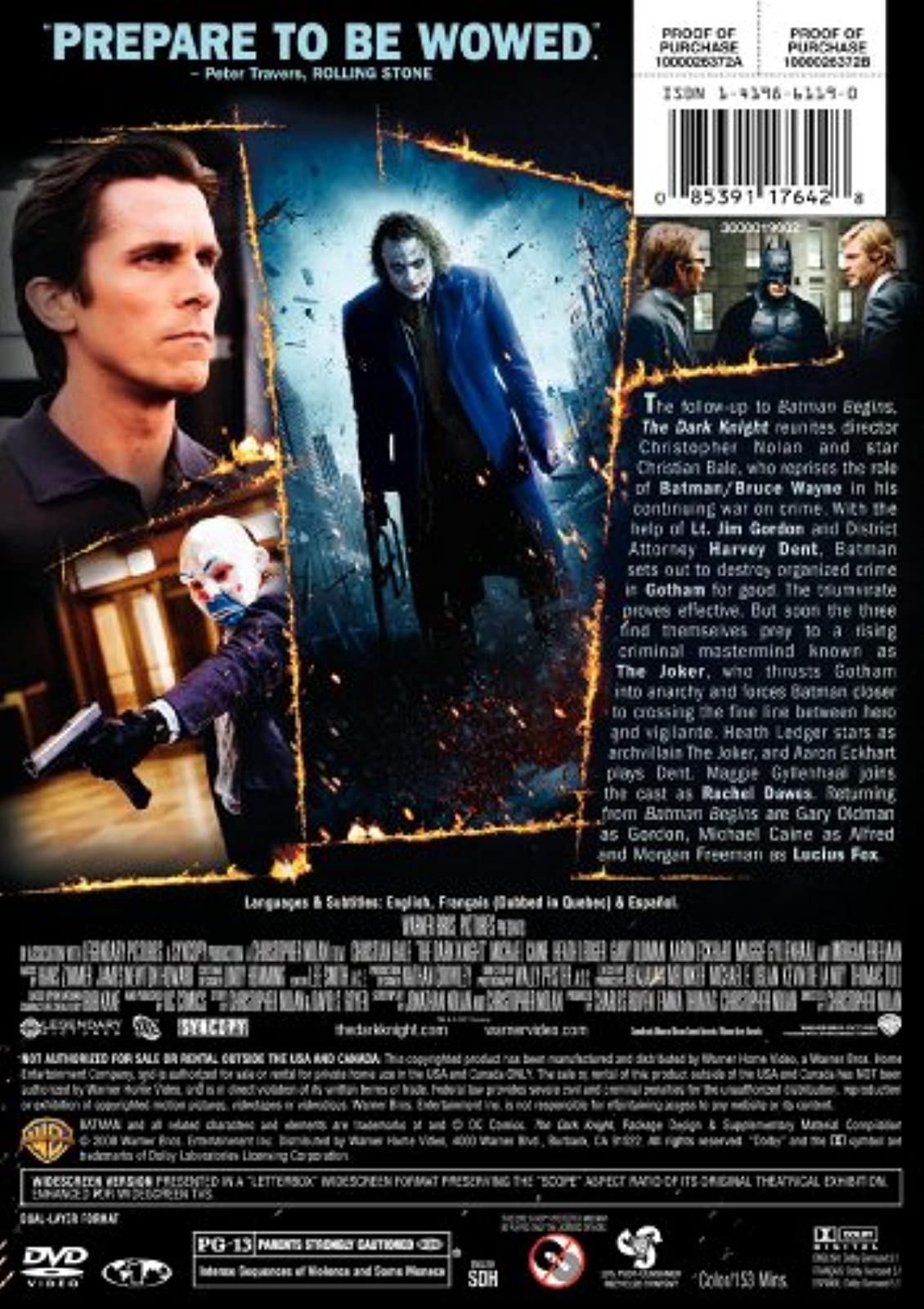 Image 2 of The Dark Knight Single-Disc Widescreen Edition On DVD With Christian